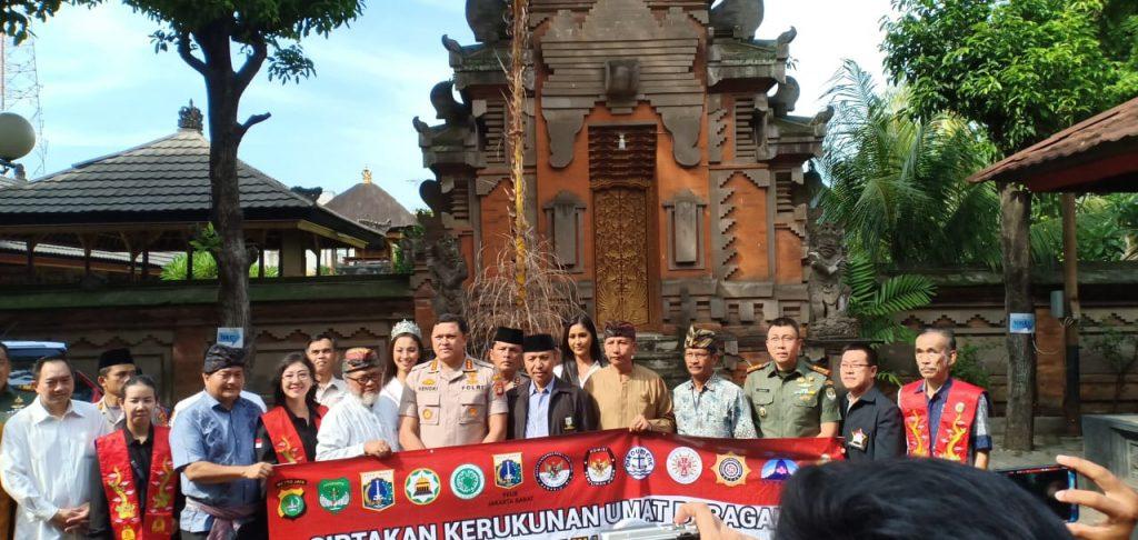 Rumah ibadah tempat pemasangan spanduk oleh tokoh lintas agama dan hadir memberi dukungan